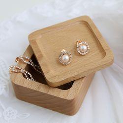 수제 나무 보석함 (원목 상자)