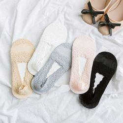 여성 레이스 덧신 페이크삭스(5개입) 발목양말 시스루