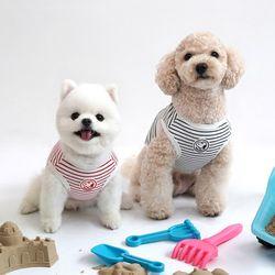 패리스독 강아지옷 스누피 스트라입 티셔츠