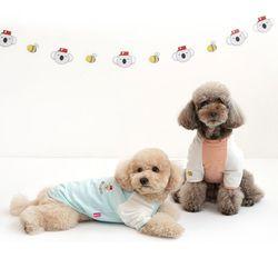 패리스독 강아지옷 코알라 스트라입 티셔츠