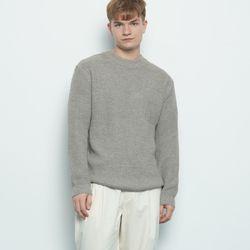 M537 basic round knit grey
