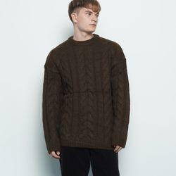 M330 wool twister knit brown