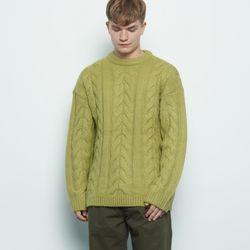 M330 wool twister knit green