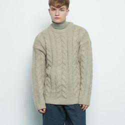 M330 wool twister knit grey