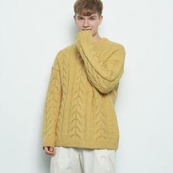 M330 wool twister knit yellow