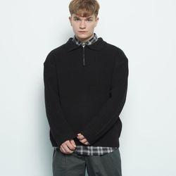 M506 collar zipup knit black