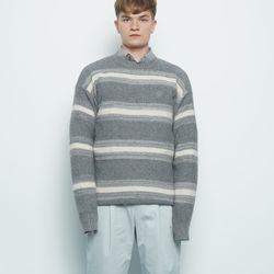 M156 abon logo wool knit grey