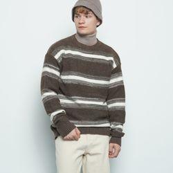 M156 abon logo wool knit brown