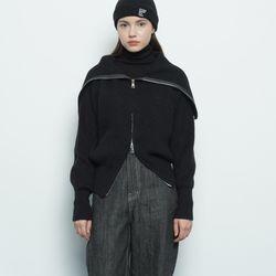 W39 life knit zip up black