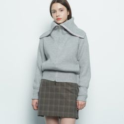 W39 life knit zip up grey