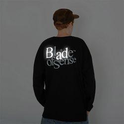 배드 리플렉티브 로고 긴팔티셔츠-블랙(NEW394BB20)
