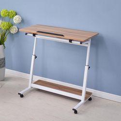 바퀴달린 이동식 각도조절 쇼파 침대 테이블 80x40