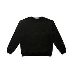 모노톤즈 남자 오버핏 긴팔 맨투맨 티셔츠 블랙