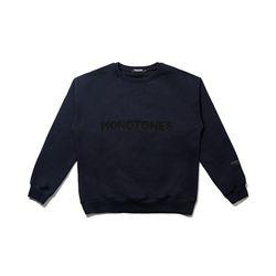 모노톤즈 남자 오버핏 긴팔 맨투맨 티셔츠 네이비