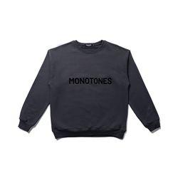 모노톤즈 남자 오버핏 긴팔 맨투맨 티셔츠 그레이