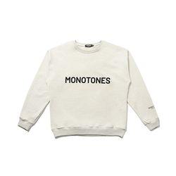 모노톤즈 남자 오버핏 긴팔 맨투맨 티셔츠 오트밀