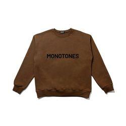 모노톤즈 남자 오버핏 긴팔 맨투맨 티셔츠 브라운