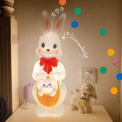 레트로 빈티지 토끼 LED 인테리어 무드등 조명 루버램