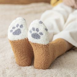 러블리 고양이 수면 양말