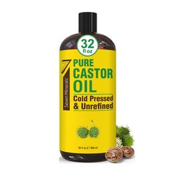 Seven Minerals 퓨어 냉압착 파마자유 오일 Castor oil 950ml