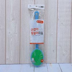 맑은하루 손잡이때밀이 손잡이형 1매(색상랜덤)