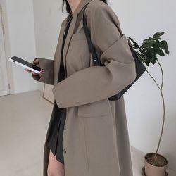 여자 가을 패션 필수템 심플 베이직 루즈핏 꾸안꾸 롱