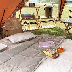 포레스트 진드기방지 사계절 캠핑 차박 이불 패드 베개 풀세트