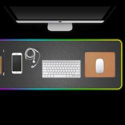 플렉스 LED 손목 보호 게이밍 패드 마우스패드 키보드 장패드