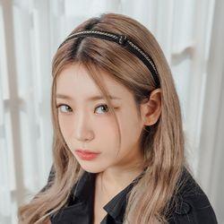 체인매듭 머리띠 헤어밴드 (21HB028)