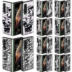 갤럭시 Z폴드3 5G 흑백 우먼 다이아 패턴 하드 케이스