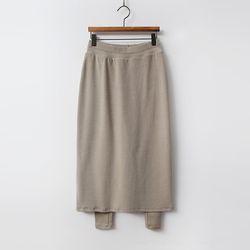 N Warm Peach Long Skirt Leggings
