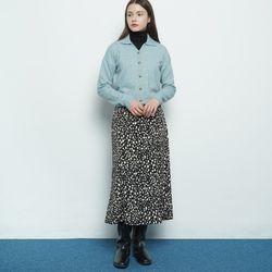 W327 leopard pattern skirt black