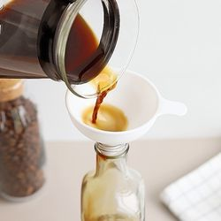 Cafe 핸드드립 커피 티 시럽 소분 카페빈 미니 깔때기