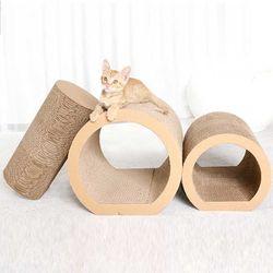 스트레스 해소 고양이 3중 스크래쳐 터널CH1778916