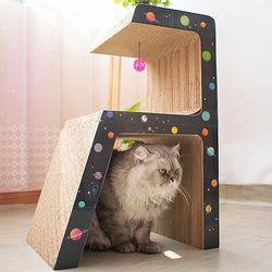 스트레스 해소 고양이 스탠드형 멀티 스크래쳐