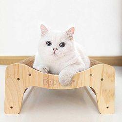 스트레스 해소 고양이 웨이브 원목 스크래쳐CH1773918