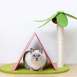 스트레스 해소 고양이 무인도 하우스 스크래쳐