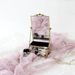 마리앙 골드 엔틱 거울 - 거울보석함