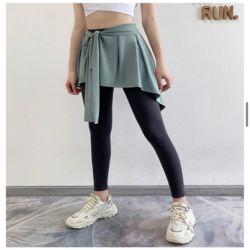 여자 리본 언발 주름 패션 힙커버 레이어드 운동복 스