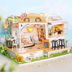 [adico]DIY 미니어처 하우스 - 고양이 카페