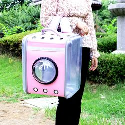 로마팸 애견 강아지 고양이 가방 이동가방 카시트 투명우주백팩