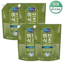 키친솝 허브식초 주방세제(R) 1.2L x 4개
