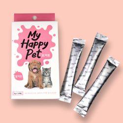 마이해피펫 강아지 고양이 펫 유산균 12개입