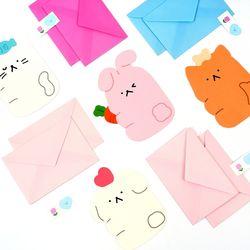 포포팬시 애니멀 레터 편지지 봉투 10세트