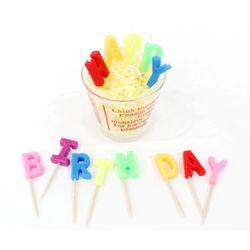 포포팬시 HAPPY BIRTHDAY 생일 초 4개 세트