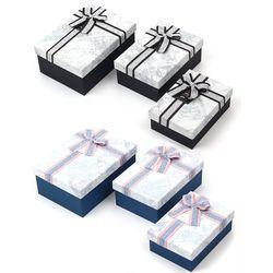 뭉구 밍크 리본 직사각형 선물상자 3종 세트