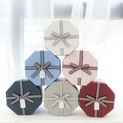 포포팬시 트윈 리본 팔각 선물 상자