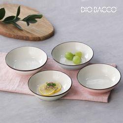 리빙아트 디오바코 파스텔가든 접시세트 4P 반찬접시