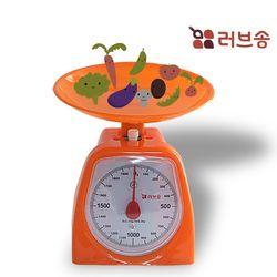 러브송 주부저울 2kg 수동저울