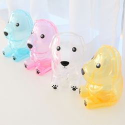 투명 강아지 디자인 저금통